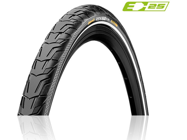 "Continental Ride City Pneu 28x1.75"" E-25 Reflex, black/white"